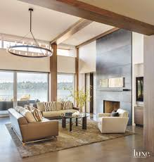 lake home interiors a camo jacket inspires the colors of this lake home luxe