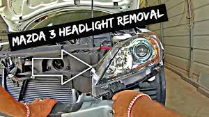 mazda 3 headlight removal and replacement 2010 2011 2012 2013