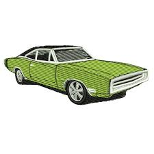 1970 dodge charger green 1970 dodge charger embroidery design mopar
