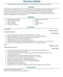 nanny resume template efficiencyexperts us