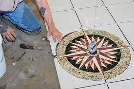 adding a medallion to a tile floor how to