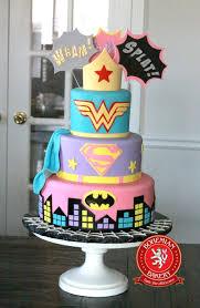 wonder woman super and batman cake bohemian bakery cakes