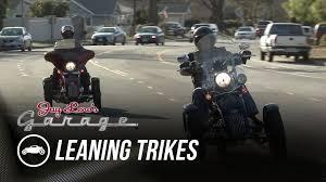 tilting motor works leaning trikes jay leno s garage youtube