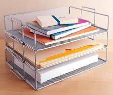Office Desk Organizer by Design Ideas Single Tray Stackable Paper Letter Office Desk