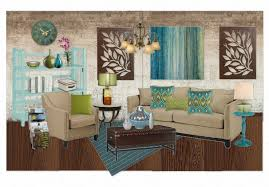 blue green living room by krystalstudio olioboard