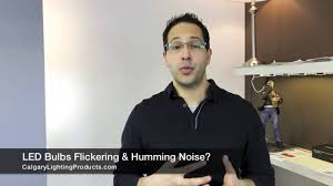 why do my led light bulbs flicker or make a humming sound youtube
