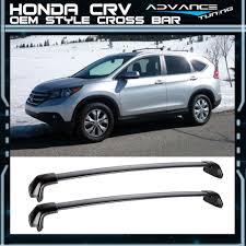 Honda Crv Roof Bars 2007 by For 12 16 Honda Crv Cr V Oe Style Roof Rack Cross Bar Black Polish