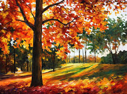 freedom of autumn park u2014 palette knife oil painting on canvas by