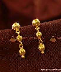 long rings design images Er432 gold plated ear rings long falling rain drops daily wear jpg
