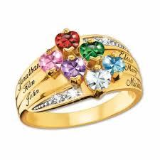 personalized birthstone rings precious hearts personalized birthstone diamond ring the