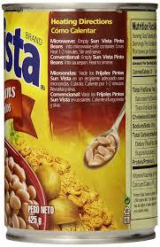 amazon com sun vista pinto beans whole 15 ounce pack of 12
