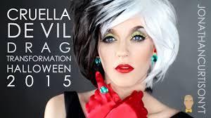cruella de vil drag transformation halloween 2015
