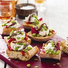 mozzarella and anchovy bruschetta woman and home