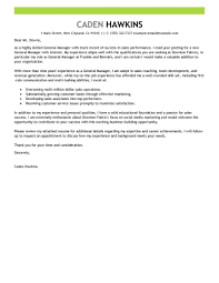 Letter Of Intent To Hire Truck Driver by Best Sales General Manager Cover Letter Examples Livecareer