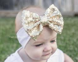 baby bows and headbands gold bow headband etsy