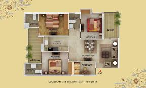 1 bhk floor plan layout plan cheap best flats mohali