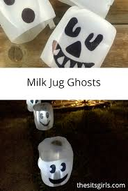 milk jug ghosts dollar store halloween decoration easy halloween