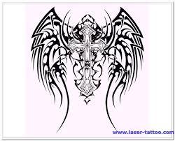 cross angel wing tattoos 30 best gothic tattoo designs