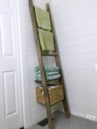 Bathroom Storage Ladder Bathroom Storage Ladder One Board Challenge
