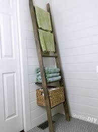 Bathroom Storage Bathroom Storage Ladder One Board Challenge