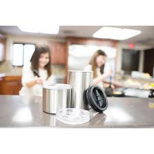 airscape kitchen canister airscape 64 oz brushed stainless steel coffee and food storage