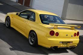 subaru skyline for sale rare lightning yellow r34 skyline gt r vspec rare cars for sale