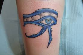 domo tattoos simple black ink horus eye tattoo design by kinxie