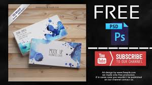 watercolor business card free photoshop template youtube