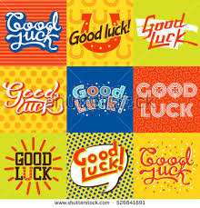 farewell card template word good luck text farewell vector lettering stock vector 624486263