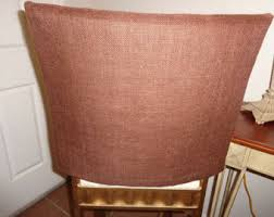 burlap chair covers etsy