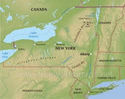 United States Map With Lakes And Rivers by Physical Map Of New York