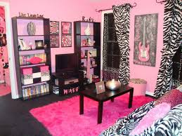 girls bedroom cool pink and grey teenage bedroom decoration