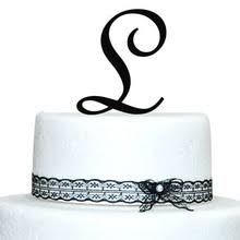 initial cake topper online shopping the world largest initial cake