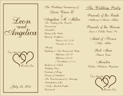 trifold wedding program trifold wedding program wedding wedding programs