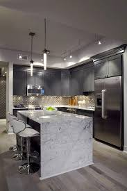 ideas kitchen best 25 waterfall countertop ideas on marble kitchen