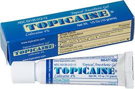 topicaine 4 lidocaine gel 10 grams anesthetic skin numbing