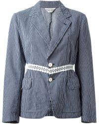 robe de chambre comme des garcons lyst comme des garçons robe de chambre jacket in blue