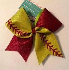 softball bows softball bow for your hair nifty things