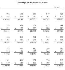 bluebonkers multiplication practice sheets three digit number