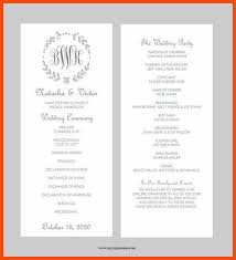 wedding program layouts wedding program sles program format