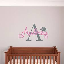 Vinyl Wall Decals For Nursery Custom Name Boys Wall Decal Monogram Personalized Name