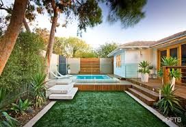Backyard Feature Wall Ideas Oftb Melbourne Landscaping Pool Design U0026 Construction Project