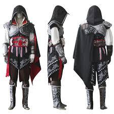 Men Black Halloween Costume Aliexpress Buy Assassin U0027s Creed Ii Ezio Black Edition