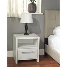 white finish nightstands u0026 bedside tables shop the best deals