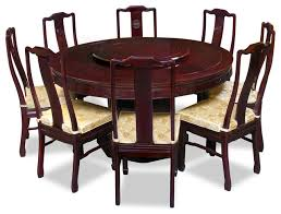 round dining room tables for 8 wonderful 60 rosewood longevity design round dining table with 8