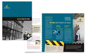 engineering brochure templates free industrial commercial construction brochure template word