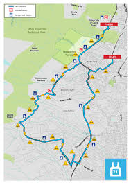Map With Oceans Route For 21km Old Mutual Two Oceans Marathon