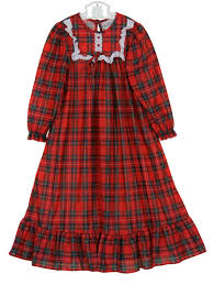 red plaid christmas nightgown holiday nightgown red plaid