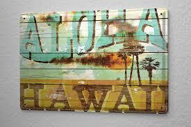 deco theme voyage amazon com m a allen retro tin sign u s deco aloha hawaii