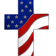 cross with flag lapel pin vanguard